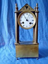 French Empire Portico Clock in Bronze by Japy Frees