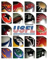 USFL Team Helmet Logo's Color  8 X 10 Photo Picture
