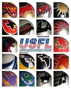USFL Team Helmet Logo's Color  8 X 10 Photo Picture