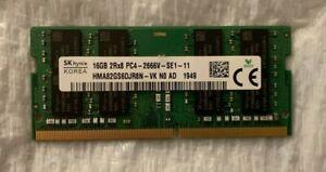 SK Hynix 16GB 2Rx8 PC4-2666V DDR4 1.2v CL19 SODIMM RAM HMA82GS6JJR8N-VK