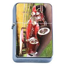Windproof Refillable Flip Top Oil Lighter Vintage Car D9 Classic Antique