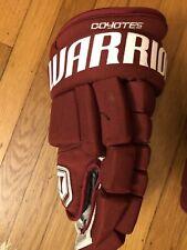 warrior franchise arizona coyotes pro stock 4 roll gloves 14