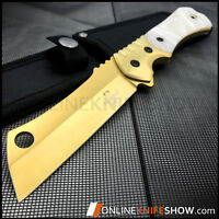 """9"""" TACTICAL HUNTING SURVIVAL FIXED BLADE MACHETE KNIFE Camping Cleaver Razor"""