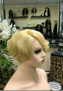 9A Mink Ash Blonde Lace Front Bob Wig - Luxe Beauty Hair