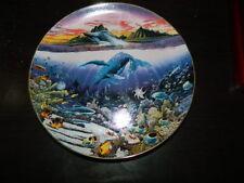 Robert Lyn Nelson Underwater Paradise Plate New Moon Over Windward Oahu Danbury