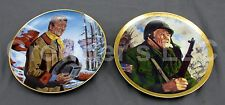 Set of 2 Vintage John Wayne Franklin Mint Porcelain Collectible Plate LE Duke
