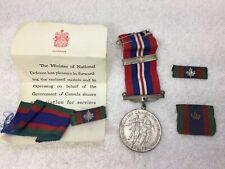 WW2 Medal & Ribbon Bar Canadian Volunteer Service 1943 Canada Clasp Lot w/letter