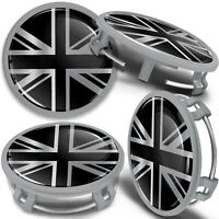 4x 75mm Wheel Centre Alloy Hub Center Caps UK Flag Compatible with Mercedes Benz