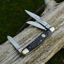 Boker Tree Brand Black Jigged Bone Stockman Pocket Knife German Made 110725