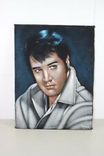 Young Elvis Presley Signed Acrylic Painting 24x18 The King of Rock 'n Roll Argo