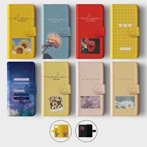 Tirita Personalised Wallet Flip Case for iPhone 12 11 SE 8 Vintage Spring Floral
