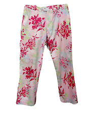 Greg Norman Pink Floral Women's Pants Size 4