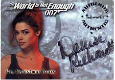James Bond World Not Enough Autograph Card A1 Denise Richards as Christmas Jones