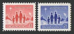 Canada 434-435 two sets, MNH. Mi 379-380. Christmas 1964. Family, Star/Bethlehem