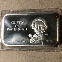 Queen of Watergate 1 oz .999 Silver Art Bar