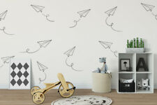 Paper Plane Wall Decal, Paper Airplane Decal, Nursery Wall Decal