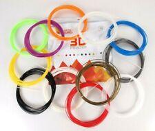 3D Printer Filament String 12 Colors 1.75mm ABS 20ft Strands Artist Supply