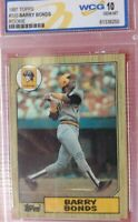 1987 Topps - BARRY BONDS - Rookie Card RC #320 WCG 10 Gem Mint HOF GOAT HR LEAD