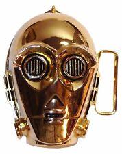 Star Wars C3PO Character Head Gold Chromed Finish BELT BUCKLE