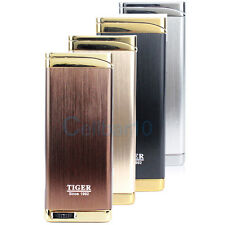 Ultra Thin Jet Flame Refillable Butane Gas Windproof Cigarette Lighter Can Track