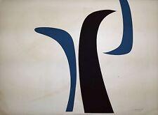 SALVADOR CORRATGE. Serigraph Signed, Original Limited Edition, 1968. Cuban Art.