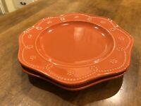 Set of 2 - Food Network Stoneware Food Network Fontinella Coral Dinner Plates
