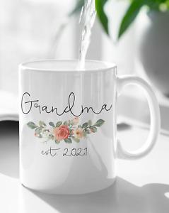 Grandpa Grandma Est 2021 Mug Pregnancy Announcement New Grandmother Grandfather