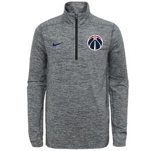 Nike NBA Youth Washington Wizards Space Dye Heather Grey 1/4 Zip Element Sweater