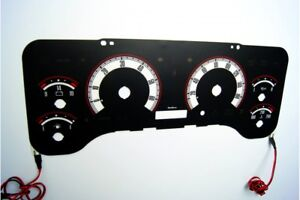 Jeep Wrangler TJ glow gauges dials plasma dials kit tacho glow dash shift indica