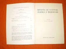 rivista di cultura classica e medievale  3,70