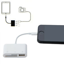 US Stock SD Card Camera Reader Adapter For iPhone x 8 7/6s/6/Plus/iPad/Mini NEW