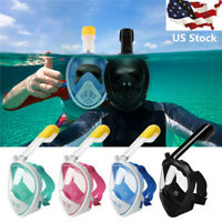 2019 New Swimming Full Face Anti-Fog Mask Surface Diving Snorkel Scuba For Gopro