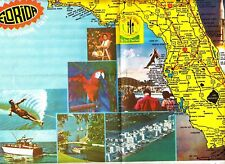 Florida Yours To Enjoy The Sunshine State Domino Placemat American Sugar Vtg