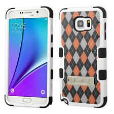 For Samsung Galaxy Note 5 Rubber IMPACT TUFF HYBRID KICK STAND Case Phone Cover