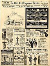 Billard- Tuche München Liqueustock Berlin Ringe Revolver Lampe Denkmäler 1893