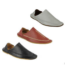 Classic Mens Faux Leather Moroccan Babouche Slippers Slip on Shoes Folded Back