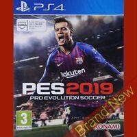 PES 2019 PlayStation 4 PS4 ~ Pro Evolution Soccer 2019 - Brand New & Sealed