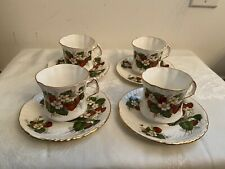 Vintage HAMMERSLY Strawberry Ripe Lot of 4 Cups & Saucers 4 of 4