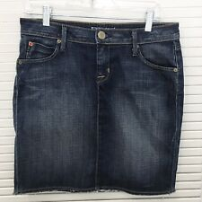 9b5772fcc Hudson Jeans Women's Denim Skirt Pencil Straight Distressed Flap Pocktets 28