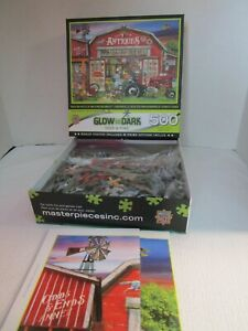 Master Pieces Antique Roadshow 500 Piece Jigsaw Puzzle Glow in the Dark w/Poster