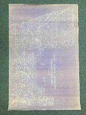 """vintage 1956 Polk County MN drainage ditch map wall 36"""" by 24"""""""