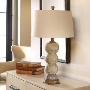 "AMELIA FARMHOUSE DESIGN 28"" TEXTURED CERAMIC TABLE LAMP UTTERMOST"