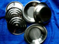 3 x Metal Tureens - 16cm diameter. Just lightly used for demontration purposes..