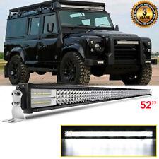 4 Row For Land Rover Defender 90 110 130 SUV 52'' 1950W Led Light Bar Spot Flood