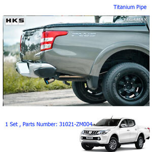 Stainless Exhaust Pipe Single Anodized Tip For Mitsubishi L200 Triton 2015 - 17