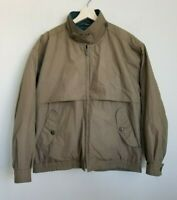 Fog London Fog Jacket Brown Green Zip Buttons Pockets Removable Lining Sz S-Reg