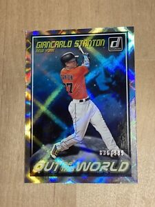 2018 N.Y. Yankees Giancarlo Stanton Donruss OUT OF THIS WORLD 836/999 CRYSTALS