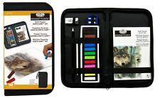 Künstler Reißverschluss Tragetasche 12 Weich Farbe Pastell Vermischen Stümpfe &