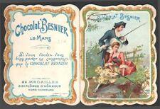 Chocolat Besnier. Calendrier 1901. pêcheurs. Le Mans
