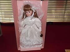 Bride Doll, Brinn's Porcelain 1990 , Original Box with Cert. of Authenticity.